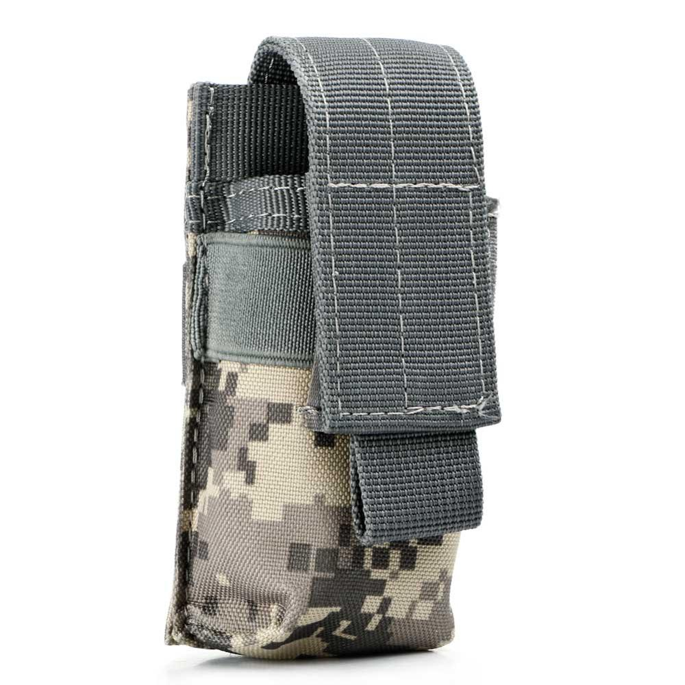 Costbuys  Portable Military Flashlight Torch Belt Holster Holder Case Pouch Black for Similar Size Tactical Handheld Flashlight