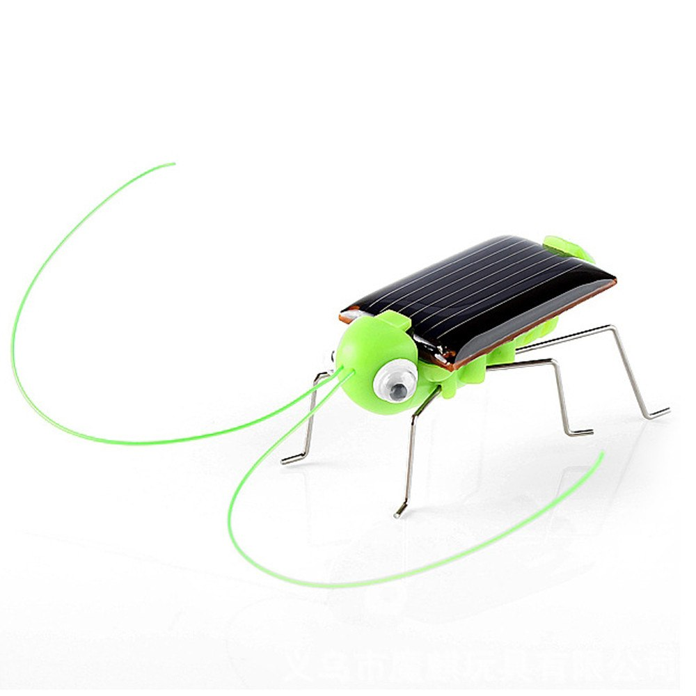 Costbuys  2018 Solar grasshopper Educational Solar Powered Grasshopper Robot Toy    required Gadget Gift solar toys No batteries