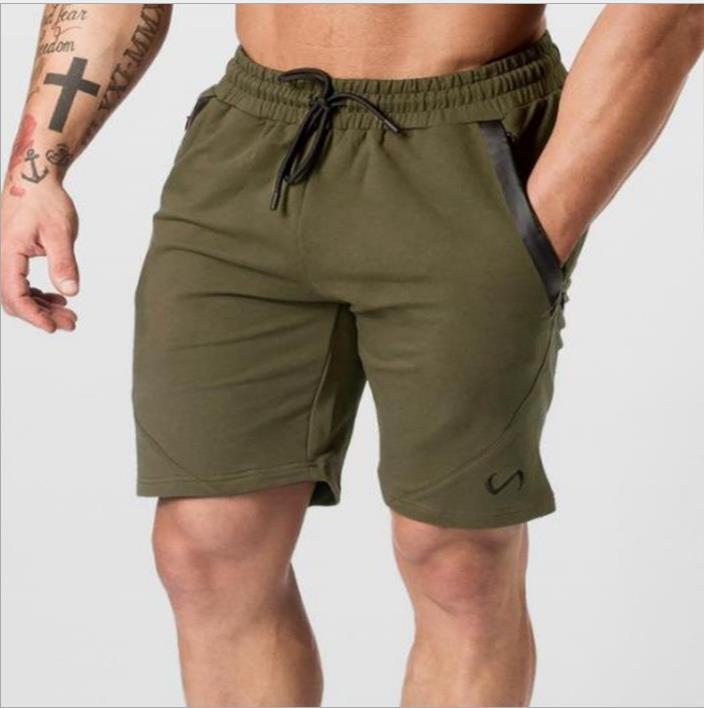Costbuys  Summer Mens Jogger Sporting Shorts Slimming Men Black Short Pants Male Fitness Gyms Shorts for workout - green / XXL