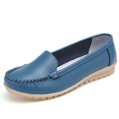 Summer  Leather Women Flats Moccasins Comfortable Woman Shoes Cut-outs Leisure Flat Woman Casual Shoes