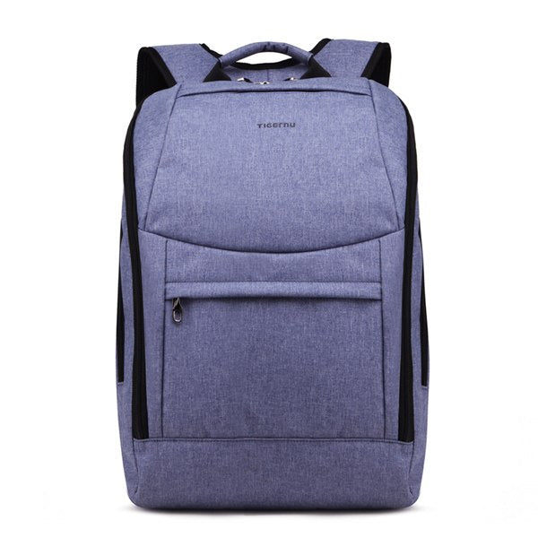 Costbuys  fashion men backpack  for teenage girls school backpack women bag Splashproof  14inch laptop backpack bag - Blue / Chi