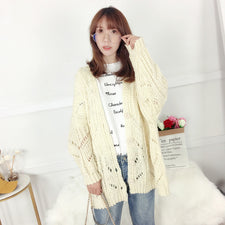 Long Cardigans Open Stitch Poncho Knitting Sweater Cardigans V neck Oversized Cardigan Jacket Coat
