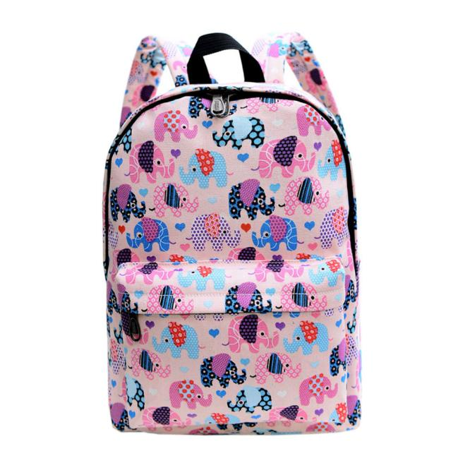 Costbuys  Fashion Women Backpack Canvas School Bag Printing School Backpack Shoulder Bags Casual Rucksacks Travel s Bag pack - P