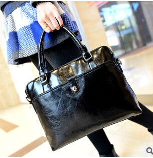 Costbuys  new Fashion women's bags famous solid black handbag leather lady shoulder bags clutches designer mochila Casual tote -