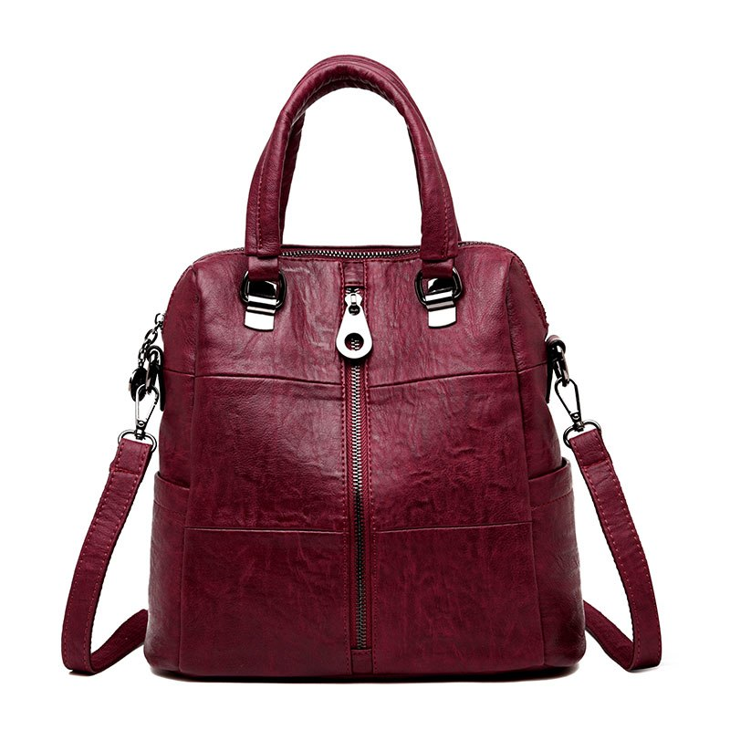 Costbuys  vintage backpack famous leather bag woman back pack backpacks for teenage girls mochilas mujer luxury school bags - Re