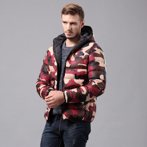 New Arrival Fashion Winter Jacket  Lovers Design Wadded Jacket Hoodies Jacket Thickening Winter Parka Men
