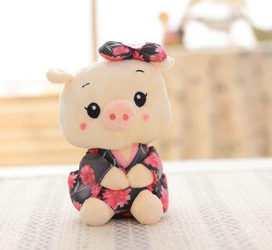 Costbuys  20cm Plush Toys Pig cloth Doll Animals Stuffed plush Children Doll Kids doll Wedding Gift - style 4