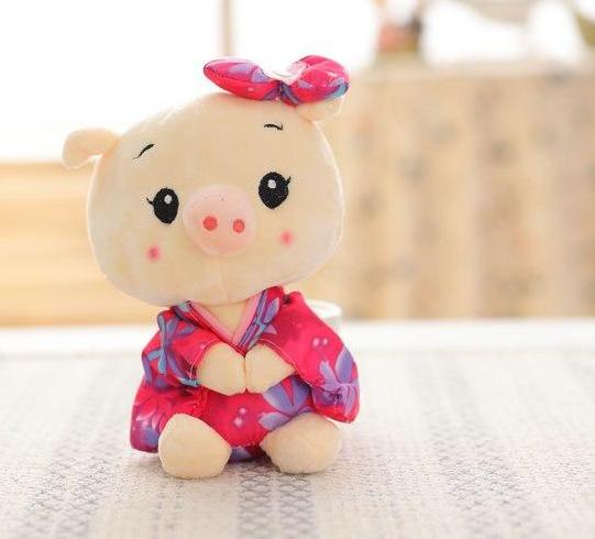 Costbuys  20cm Plush Toys Pig cloth Doll Animals Stuffed plush Children Doll Kids doll Wedding Gift - style 3