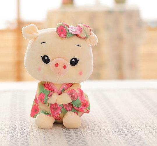 Costbuys  20cm Plush Toys Pig cloth Doll Animals Stuffed plush Children Doll Kids doll Wedding Gift - style 2