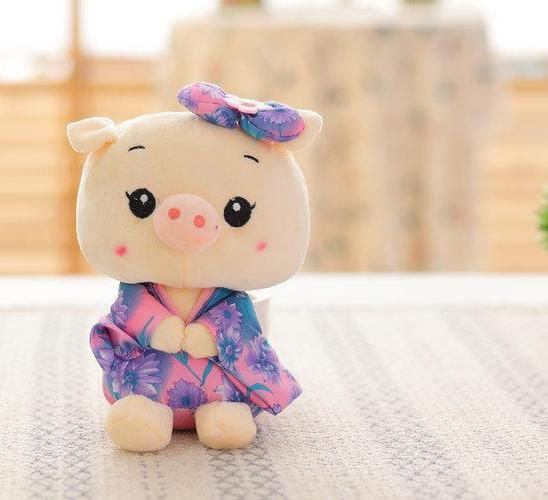 Costbuys  20cm Wholesale Sitting Pig Plush Toys Pig cloth Doll Animals Stuffed plush Children Doll Kids doll Wedding Gift - styl