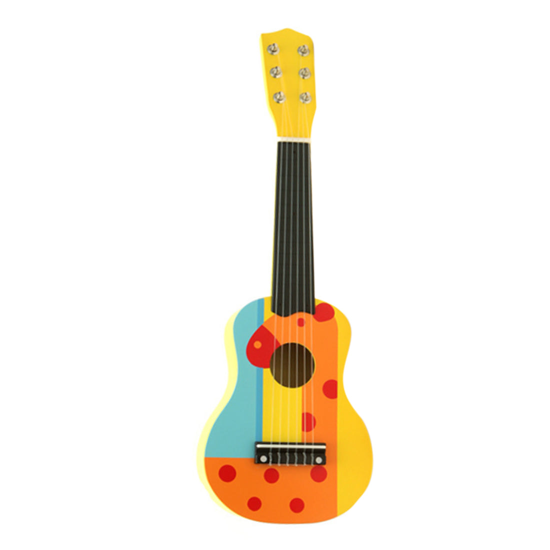 Costbuys  21 Inch Cute Cartoon 6 String Mini Wooden Guitar Toys Kids Musical Instruments for Birthday Gifts - 1