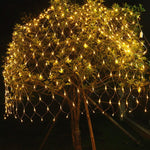 220V LED Net Mesh String Light White Warm White RGB Home Garden Christmas Wedding Xmas tree Party Decoration Holiday Lighting