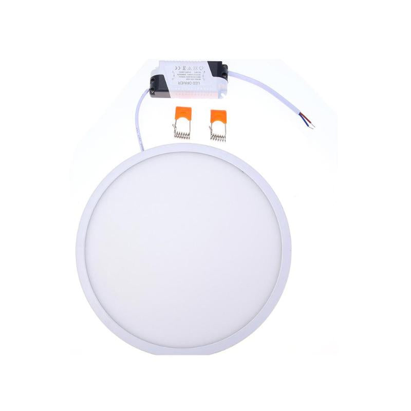Recessed Panel Living Room Interior: 24W Super-thin Round LED Panel Light Suspended Ceiling