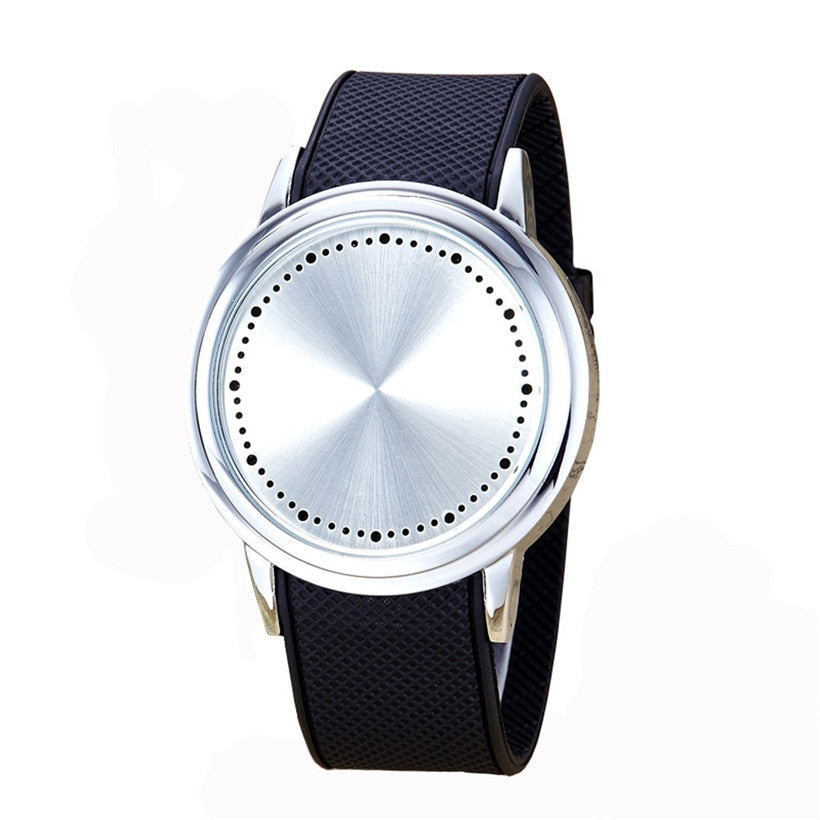 Costbuys  2PC  Creative Fashion Couple Touch Screen Circular Pattern Silicone Band LED Wrist Watch  Sports Watch Best Gift Digit
