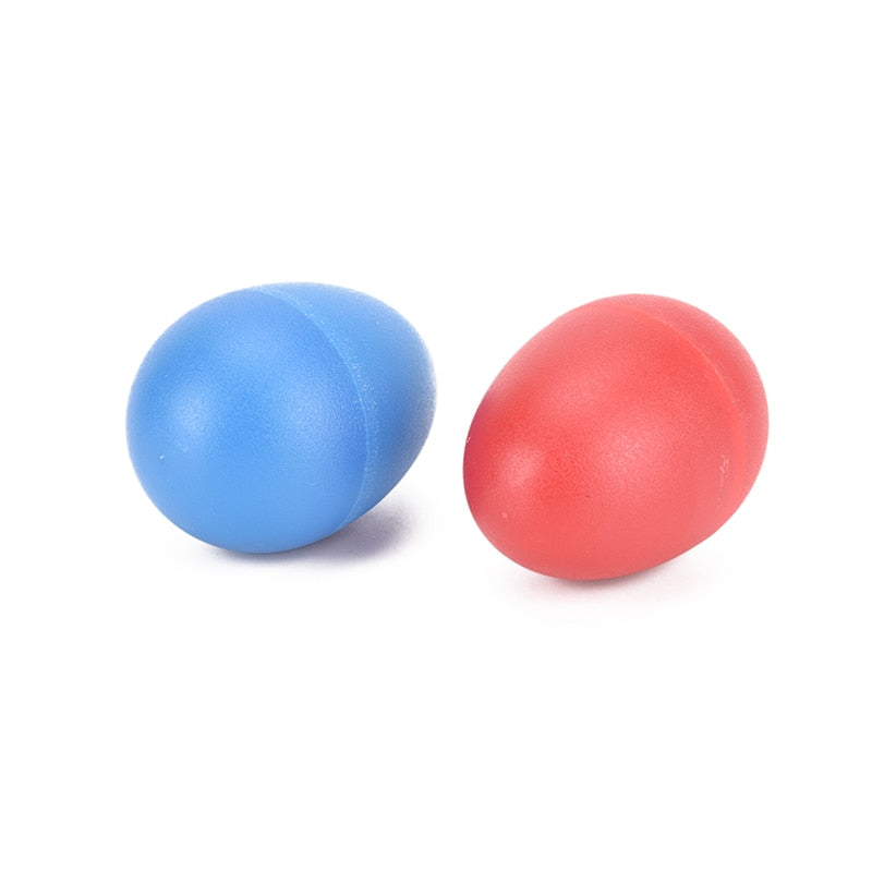 Costbuys  2Pcs/lot Musical Instruments Accessories Colourful Sound Eggs Shaker Maracas Percussion Red Blue 2 Colors