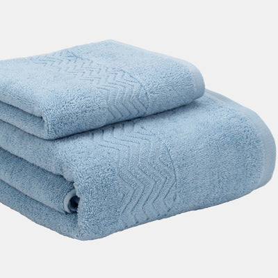 Costbuys  2Pieces Set Solid Home Hotel Cotton Towel Set 1pc Face Washcloth Hand Towel 1pc Bath Towel Camping Shower Towels Bathr