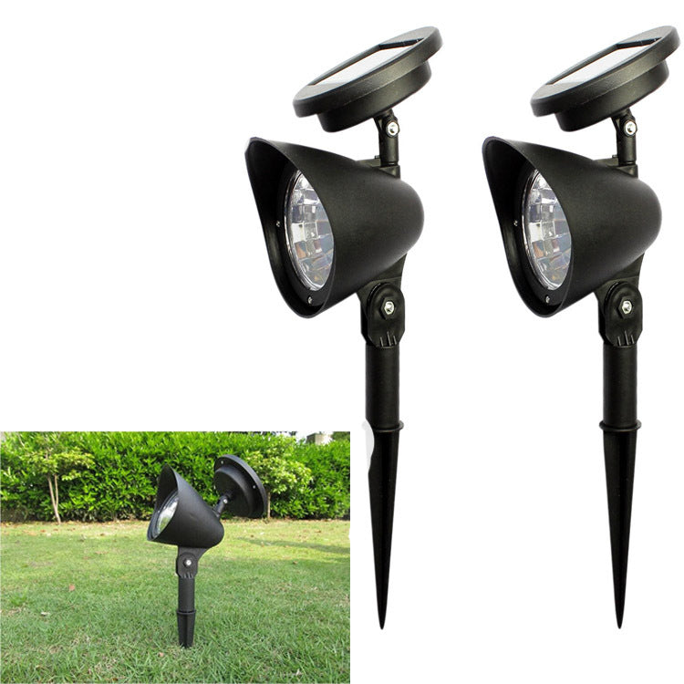 Costbuys  2pcs/lot Solar Light Outdoor Lighting 4LED IP65 Waterproof Luz Solar Lamp Garden Led Spotlight Adjustable Wall Landsca