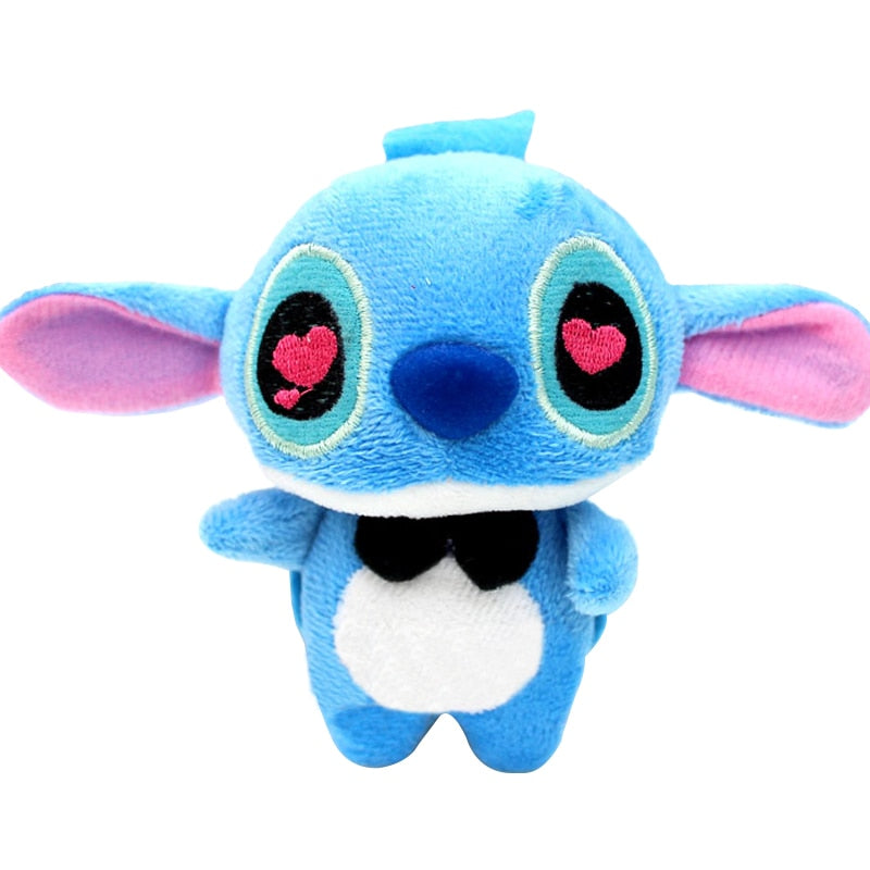 Costbuys  2pcs/pair 11*7CM LOVERS and Stitch Plush Stuffed TOY doll Phone Charm Strap BAG Key Chain Pendant TOY Wedding TOY