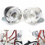 3 LED Front Light Headlight Vintage Flashlight Lamp Retro Bicycle Bike Electric Scooter