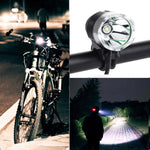 3 Modes LED Bicycle Light 1200lm Lumens XM-LT6 Led Bicycle Light Headlamp Q5 USB MTB Bike Front Rear Light Lamp Torch