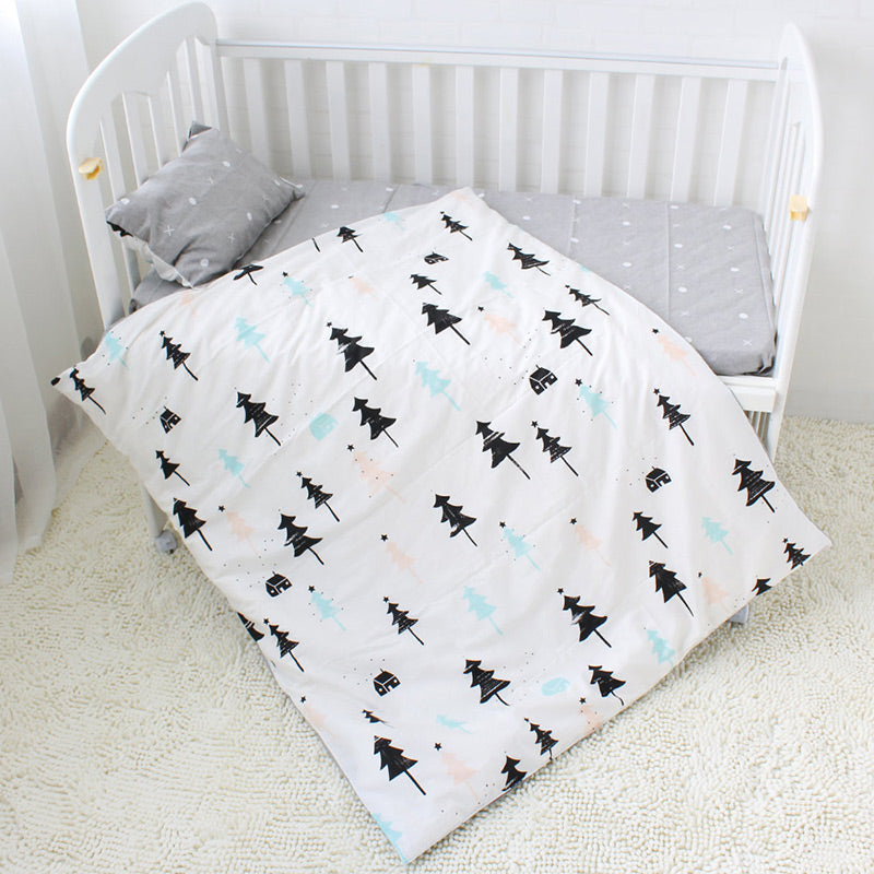 Costbuys  3 Pcs Baby Bedding Set Pure Cotton Cot Kit For Newborns Children Crib Bed Linen Include Duvet Cover Pillowcase Flat Sh