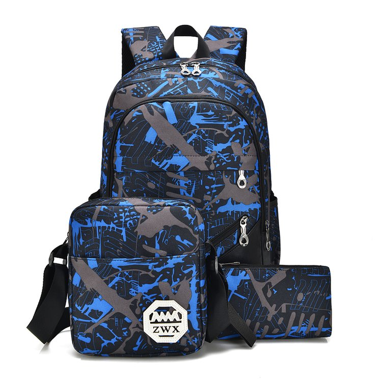 Costbuys  Fashion Women Backpack for School Teenage Girls Boys  School Bag Male Men Backpack Female Bookbag - Blue