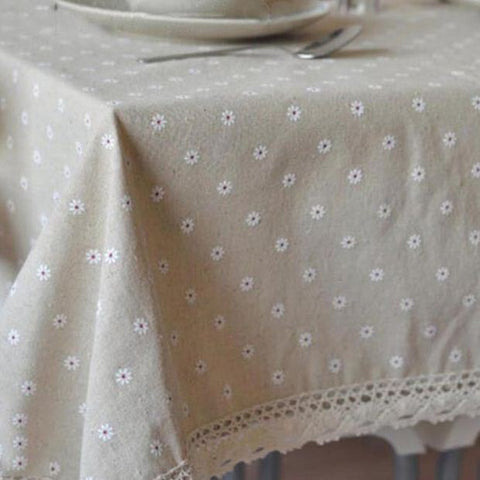 Genial 3 Styles Lace Linen Table Cloth Flower Cherry Country Style Multifunctional  Tablecloths Table Cover