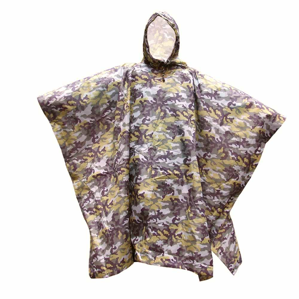 Costbuys  3 in 1 Waterproof Camp Tent Mat Awning Multifunctional Camouflage Poncho Raincoat Rain Cover Backpack for Outdoor Camp