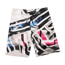 30-38 Stripe Print Quick Dry Men's Board Shorts Summer Beach Shorts Swimwear Men Boardshorts Man Bermuda Swimsuit