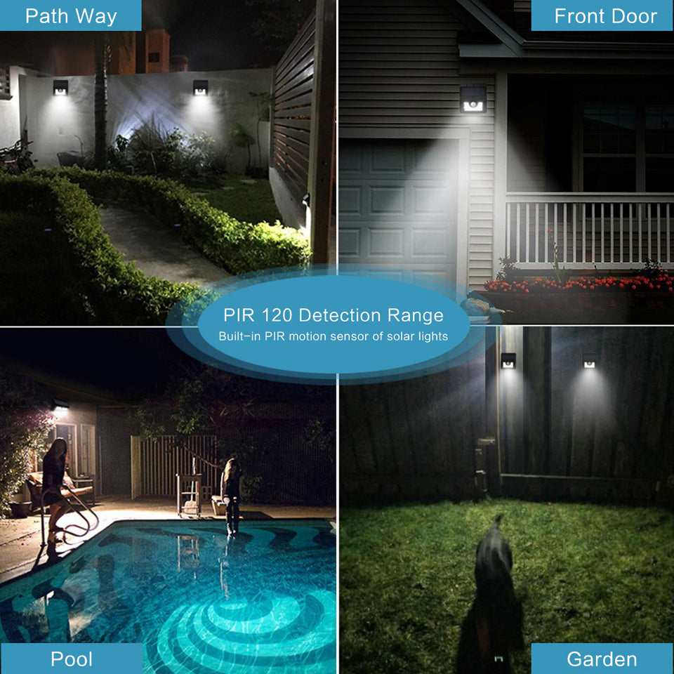 Costbuys  30-LED 2835 SMD Garden Led Solar Light Human Infrared PIR Motion Sensor Wall Lamp Security Waterproof IP65 Outdoor Lig