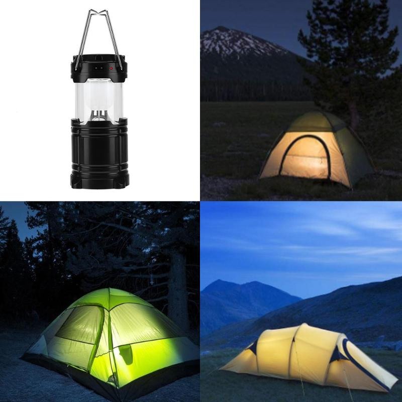 Costbuys  300LM Outdoor Camping Hiking LED Solar Powered Rechargeable Lamp Tent Portable Lantern Night Light Hard Bright Hanging