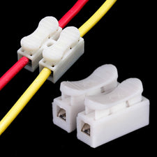 30pcs 2Pins Wire Connectors CH2 White Quick Splice Lock 20X17.5X13.5mm Cable Terminals For Wire Connection