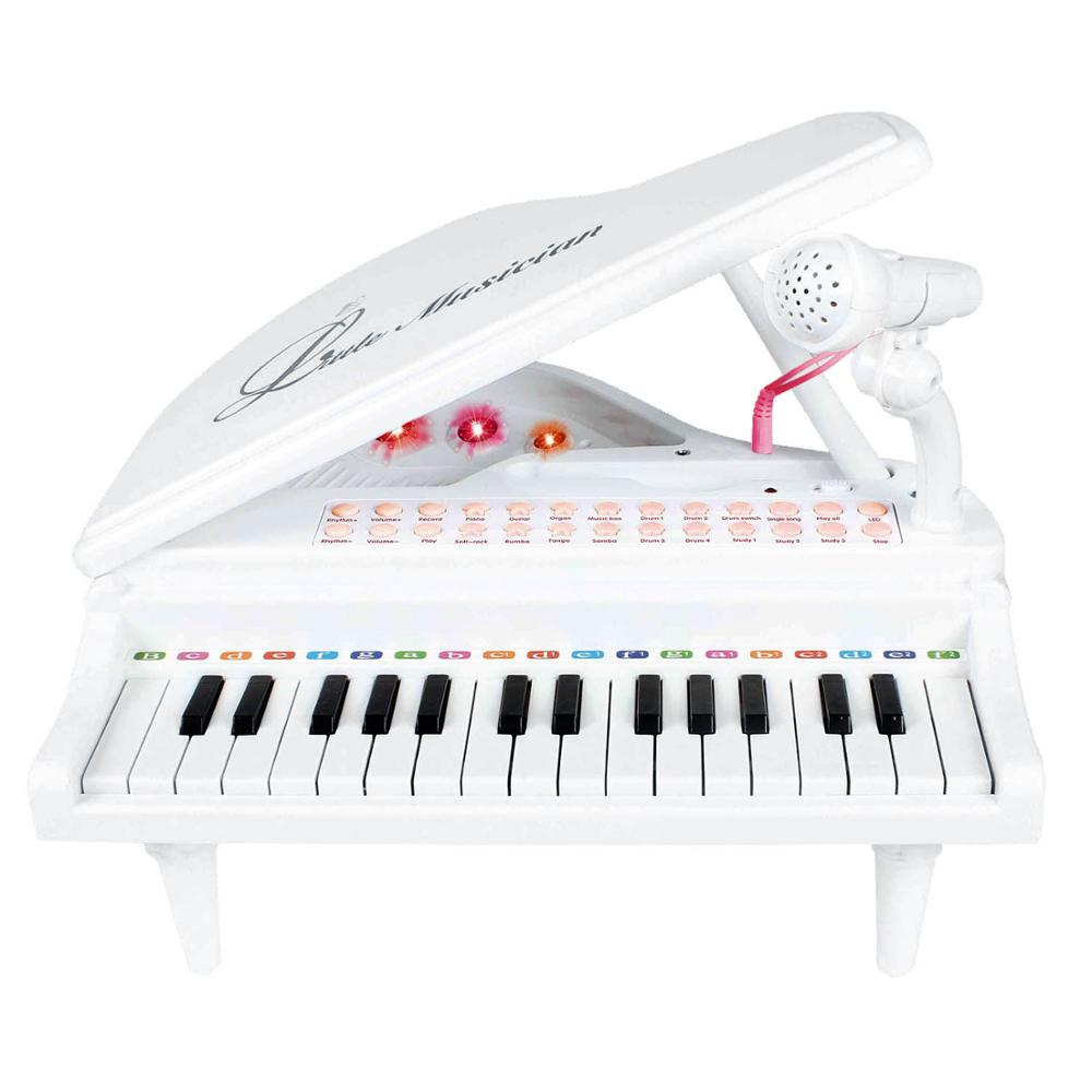 Costbuys  31 Keys Piano Keyboard Toy Electronic Musical Multifunctional Instruments with Microphone for Kids Toy Musical Instrum