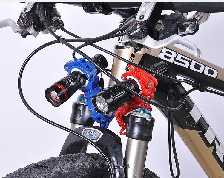 360 Degree Rotation Cycling Bike Bicycle Flashlight Torch Mount LED Head Front Light Holder Clip Bicycle Accessories