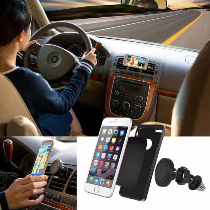 Costbuys  360 Degree Universal Car Phone Holder Magnetic Air Vent Mount Cell Phone Car Mobile Phone Holder Stand Mobile Phone Ac