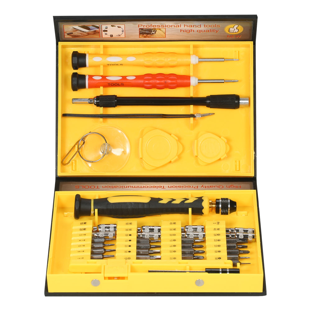 Costbuys  38 in 1 multitul Precision screwdriver set Telecommunication Tool Torx Hex Slotted Phillips Repair Tools for Cellphone