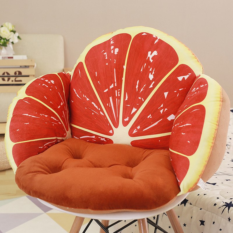 Costbuys  3D Fruit Printed Sofa Seat Cushion Pillows, Home Decorative Waist Cushion For Sofa Chair, Back Seat Cushion Almofadas