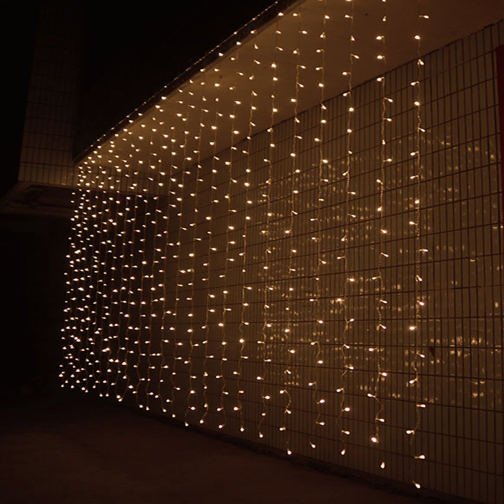 Costbuys  3M x 3M 300 LED Outdoor Window Curtain Christmas Lights String Fairy Lights Wedding Party Home Garden Decorations - Ch