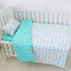 3Pcs Baby Bedding Set Cotton Cartoon Pattern Crib Kits Including Flat Sheet Duvet Cover Pillowcase Without Filler Baby Bed Linen