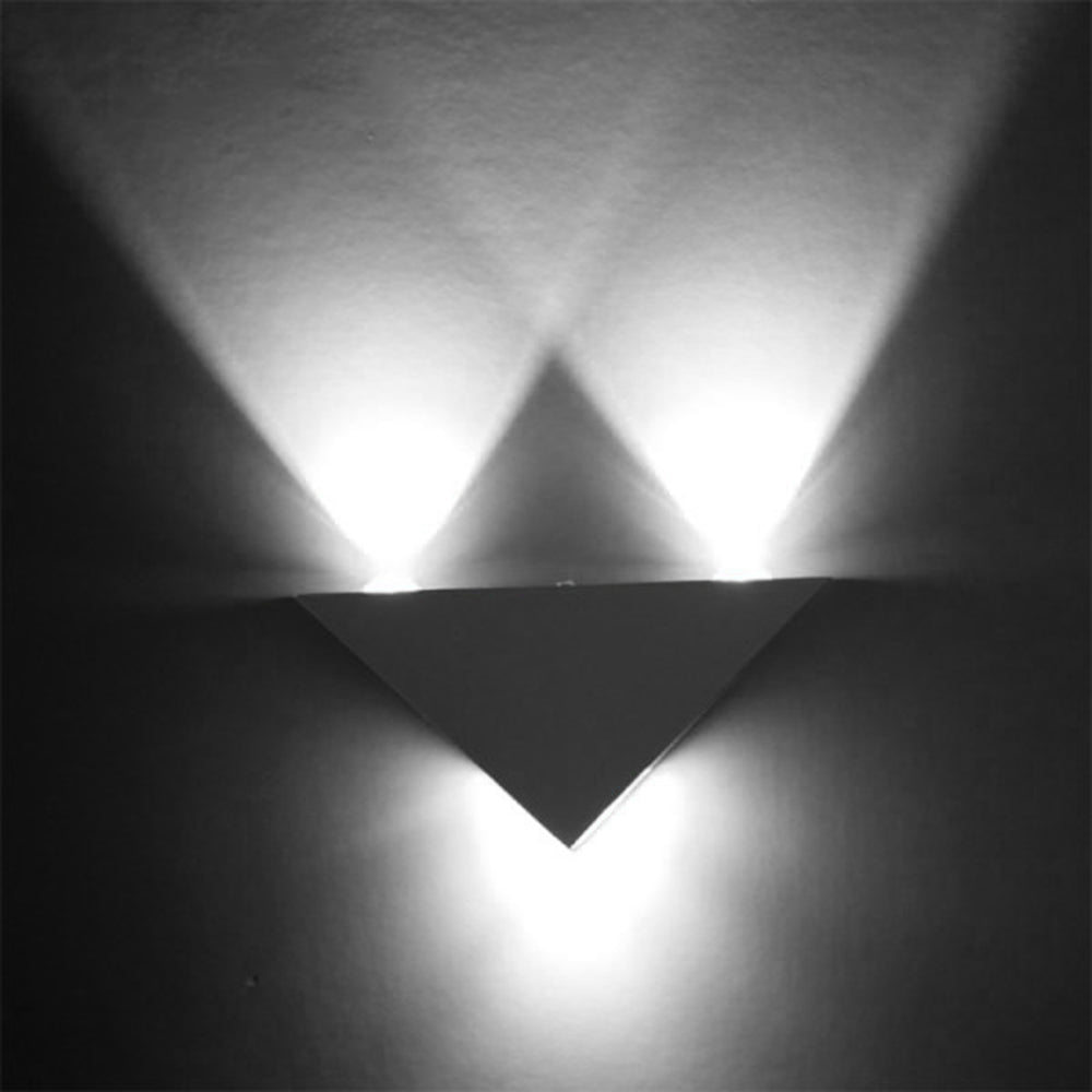 Costbuys  3W Aluminum Triangle Led Wall Lamp AC85-265V High Power Led Modern Home Lighting Indoor Outdoor Decoration Light Wall