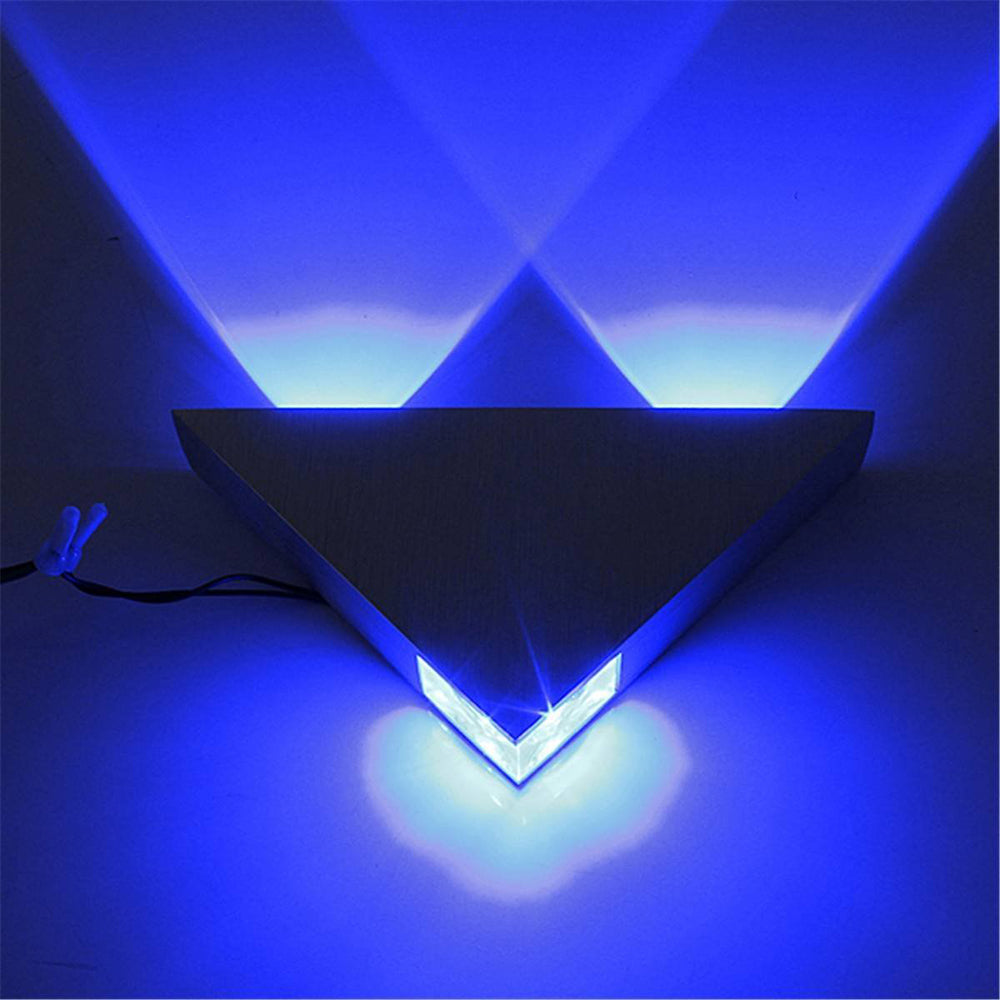 Costbuys  3W Aluminum Triangle led wall lamp AC85-265V high power led Modern Home lighting indoor and outdoor decoration light -