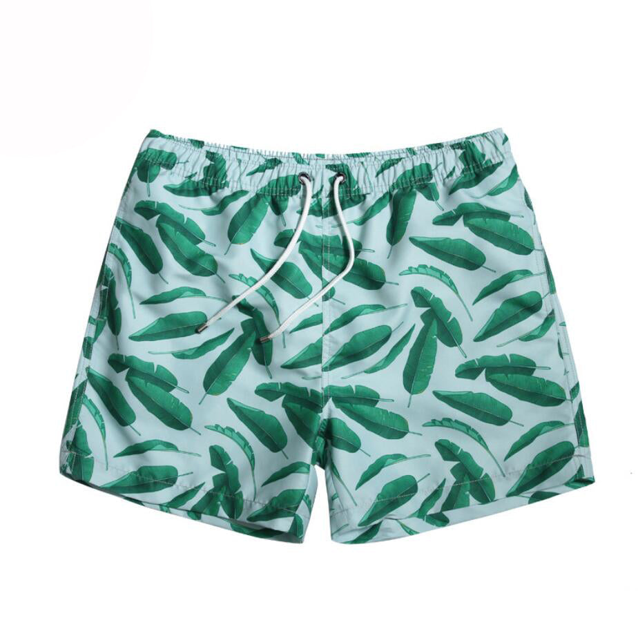 7e28ad0354 3xl Green leaves printed quick dry swimwear men surf men Swimsuit Swimming  Trunks Swim Wear Shorts
