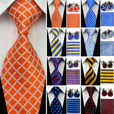 "4""/10cm Wide Ties for Men Striped Jacquard Men's Silk Neckties Business Wedding Tie Sets Gravatas Hanky Handkerchief Cufflinks"