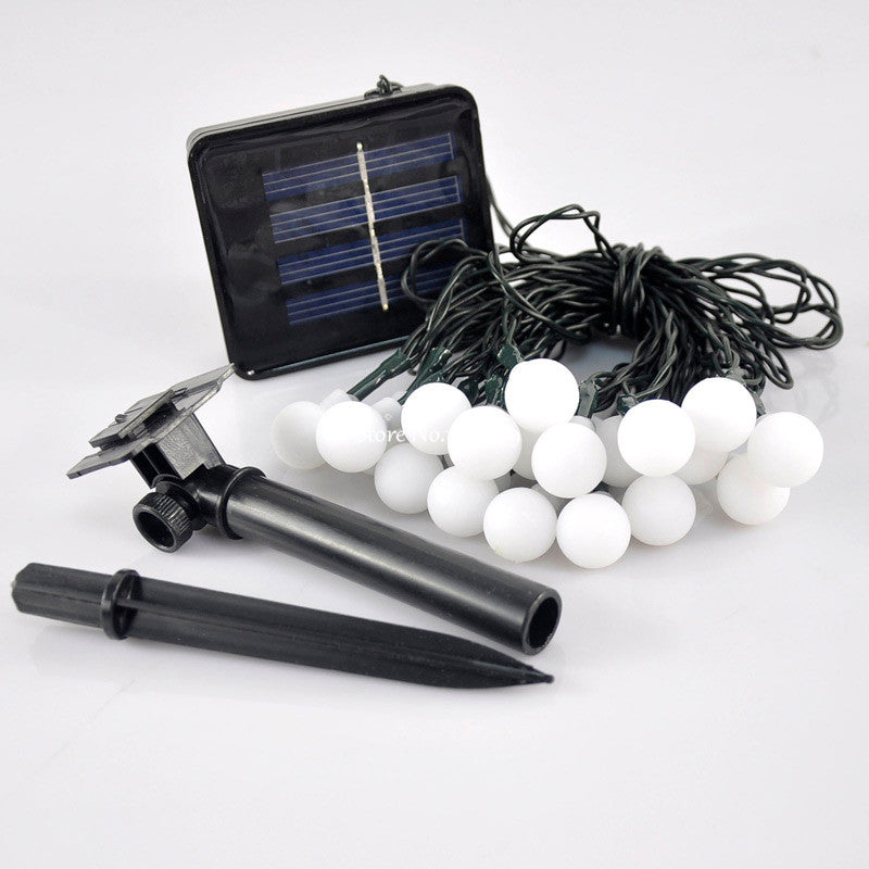 Costbuys  4.8M 20 LED Matte Ball Solar Outdoor light Christmas Lighting Solar Lamp For Party Wedding Garden Decoration - Warm Wh