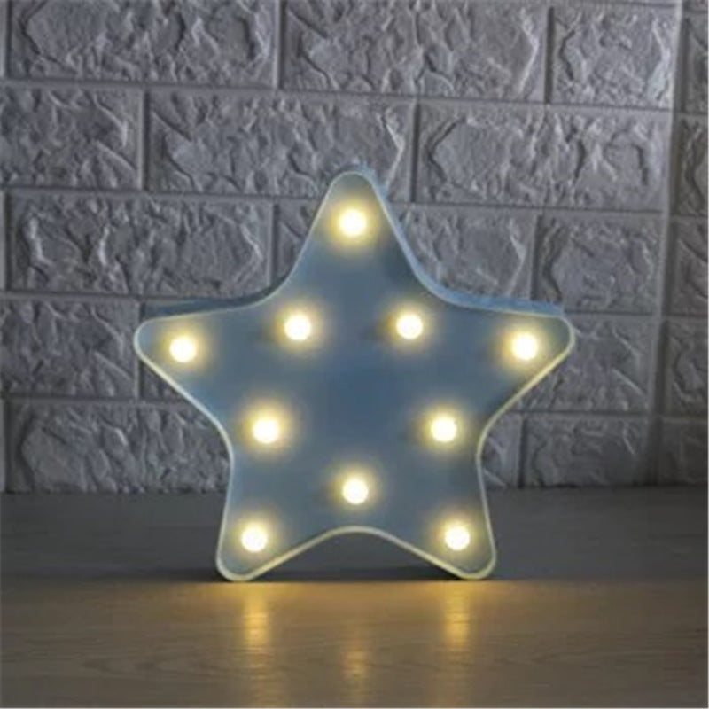 Costbuys  4 Style Starfish Shaped LED Night Light Table Desk Light Lamps Indoor Kids Room Bedroom Home Wedding Decoration Wall L