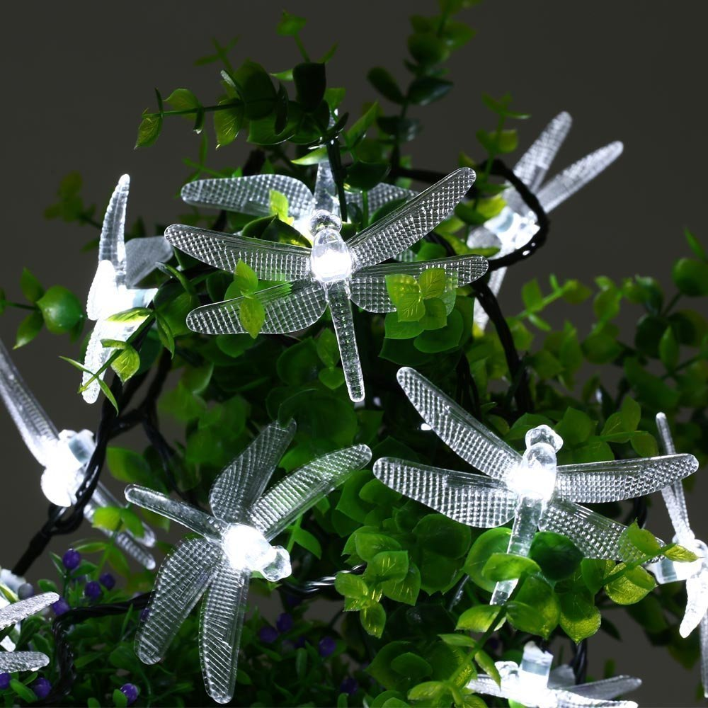 Costbuys  40 LED Waterproof Fairy Lights with 8 Modes Solar Powered Outdoor Lights for Home Patio Lawn Path Party Decorations -