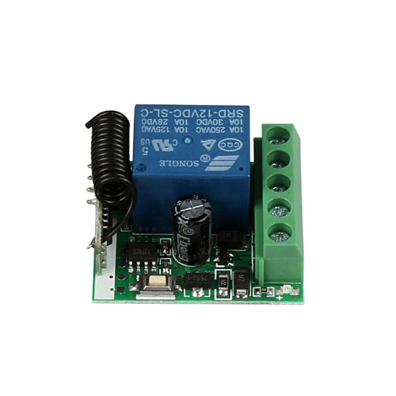 Costbuys  433Mhz Universal Wireless Remote Control Switch DC 12V 1CH Relay Receiver Module and RF Transmitter Electronic Lock Co