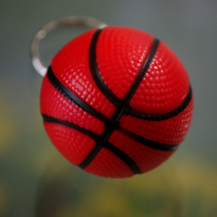 Costbuys  48pcs/lot Jewelry Basketball cell phone accessories basketball keychain key chain ring small gift