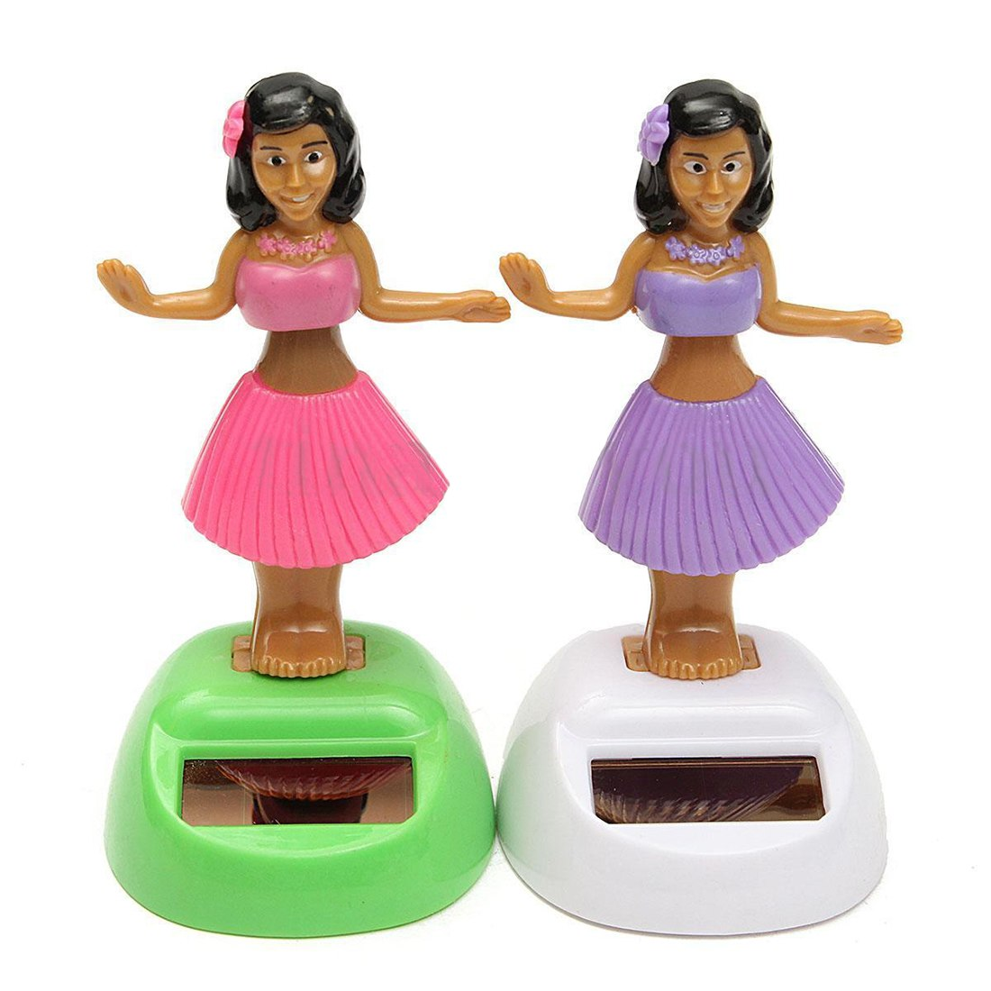 Costbuys  4x Solar Powered Dancing Hula Girl Swinging Bobble Toy Gift For Car Decoration