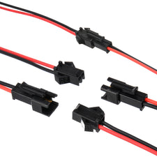 5 Pairs 2-Pin SM Plug Connector Cable Wire Male + Female 5 Of Each Connector 100mm Cable Length Mayitr DIY Electrical Wires